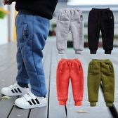 女童秋冬褲子男童加絨棉褲小童冬季嬰兒寬鬆男寶寶加厚兒童保暖褲