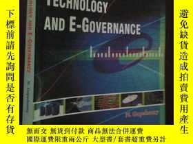 二手書博民逛書店INFORMATION罕見TECHNOLOGY AND E-GO
