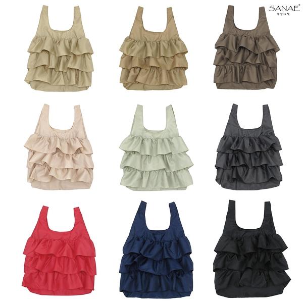 早苗帆布 蛋糕裙折疊收納袋 購物袋