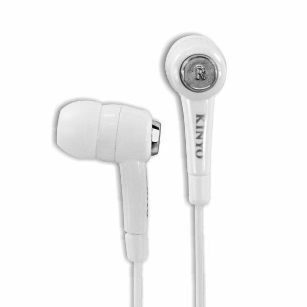 KINYO耐嘉 EMP-57 炫白密閉式耳機 有線 入耳式 耳機 線控 有線耳機 運動耳機【迪特軍】
