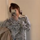 雪纺衬衫女装复古港味设计感2021早春新款内搭气质宽松长袖上衣潮