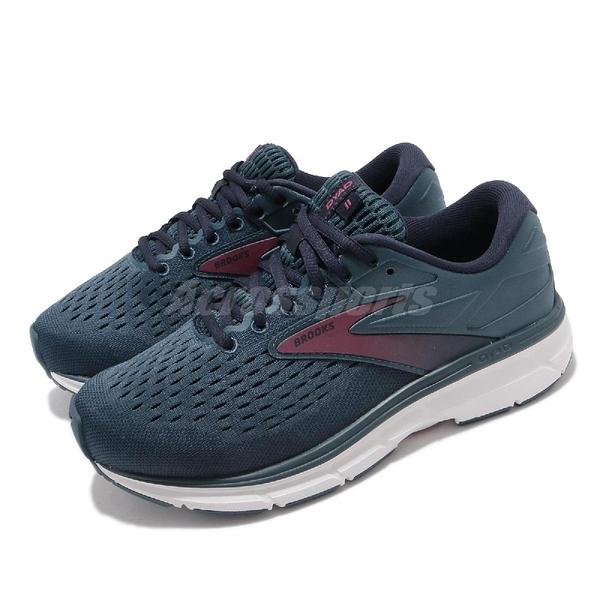 Brooks 慢跑鞋 Dyad 11 2E Extra Wide 超寬楦頭 黑 藍 女鞋 輕量透氣 穩定支撐 運動鞋【ACS】 1203122E490
