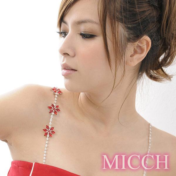 MICCH 氣質酒紅閃耀捷克鑽石肩帶