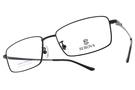 SEROVA 光學眼鏡 SP116 C16 (黑) 沉穩方框款 鈦眼鏡 # 金橘眼鏡