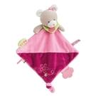 GMPBABY 法國娃娃Doudou灰紅小熊聲音玩具方巾39cm