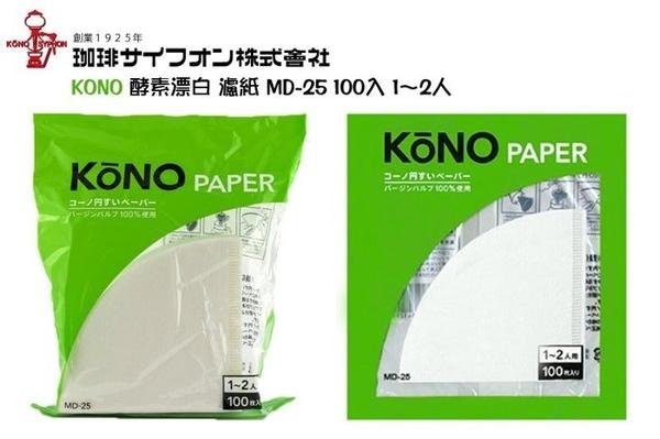 【沐湛咖啡】 KONO 河野 名門 錐形濾紙 MD-25 (1~2人)