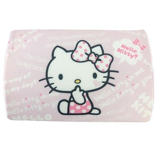 小禮堂 Hello Kitty 方形棉質枕頭 兒童枕頭 記憶枕 午睡枕 (粉白 側坐) 4713909-23290