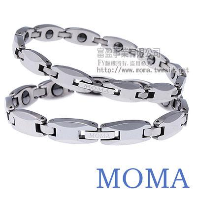 【MOMA】鎢鋼鍺磁手鍊風華-M83對鍊-情人對鍊
