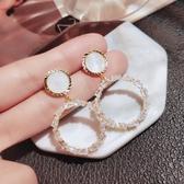 高級感耳環2019新款潮韓國氣質圓圈耳飾網紅時尚耳夾夸張純銀耳釘