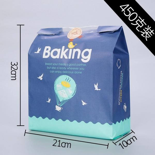 1入 450克開窗土司袋 450g烘烤麵包吐司袋 吐司袋【D111】環保牛皮紙麵包袋淋膜紙袋包裝袋