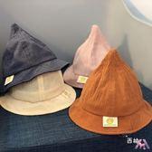 店慶優惠兩天-春夏寶寶漁夫帽兒童巫師帽休閒帽子男女童盆帽貼標素面遮陽帽