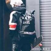 後背包男 書包男女韓版原宿高中學生街頭情侶雙肩包時尚大容量背包 莫妮卡小屋