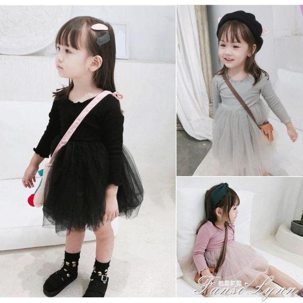 女童春秋裝連身裙兒童裝裙子洋氣長袖韓版加絨紗裙寶寶公主裙冬季 范思蓮恩