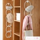 墻壁掛鉤 掛帽子收納神器家用墻壁整理壁掛式架子掛鉤門后包包置物架多功能 潮流