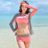 潛水衣   韓國潛水服女分體長袖防曬速干游泳衣沖浪浮潛服顯瘦水母衣套裝
