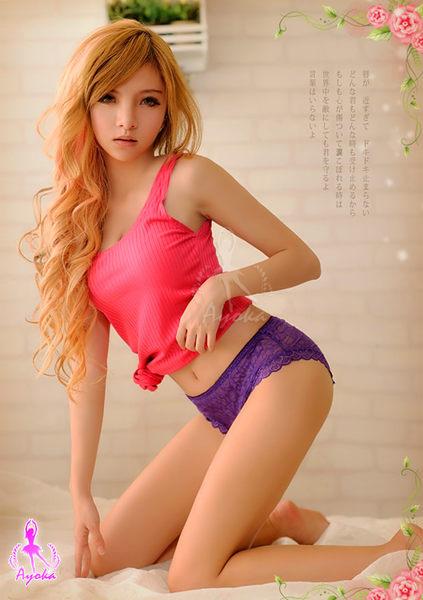 織入情網!透視蕾絲內褲 (紫色) (OS小舖)