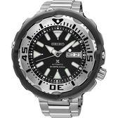 【5年保固卡】SEIKO 精工 PROSPEX Scuba 水中蛟龍機械錶-黑x銀/51mm 4R36-05R0D(SRPA79J1)