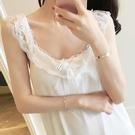 睡衣女夏季性感吊帶睡裙甜美公主風韓版清新學生蕾絲帶胸墊可外穿
