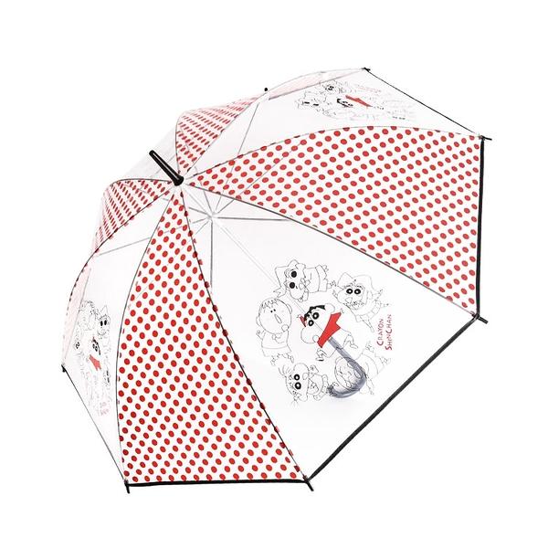 Small Planet 透明雨傘 83.5cm 蠟筆小新 朋友 紅點點_DP43416