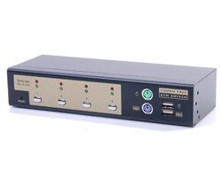 [富廉網] HANWELL 捍衛科技 SMK104U  4-Port 桌上型 PS/2 & USB 雙介面 KVM 電腦切換器