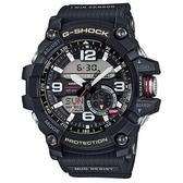 【CASIO】 G-SHOCK 極限陸上冒險家軍事設計造型雙顯錶-黑(GG-1000-1A)