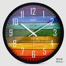 歐式創意木大號靜音掛鐘現代時尚客廳個性臥室石英時鐘錶
