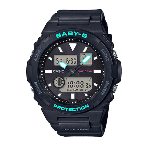 CASIO 卡西歐 手錶專賣店 BABY-G BAX-100-1A 運動衝浪型雙顯女錶 防水100米 BAX-100