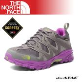【The North Face 女 GORE-TEX低筒登山健行鞋《銀灰/桃粉紫》】A2Y1/登山/健行/防水透氣