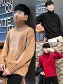 高領毛衣 日韓情侶寬鬆個性學生純色bf原宿風針織衫潮 森雅誠品