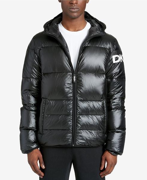 美國代購 現貨 DKNY 羽絨外套 Mid-Length Hooded Puffer Jacket (L)