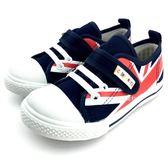 《7+1童鞋》中童 優雅英倫 經典百搭 休閒帆布鞋 MIT台灣製造 E280 藍色