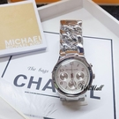 『Marc Jacobs旗艦店』美國代購 mk3149 Michael Kors  銀色時尚性感三眼計時手鍊腕錶|MK|100%全新正品|