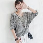ENTER 短袖針織上衣 V領麻花鏤空針織長袖上衣【RA846】