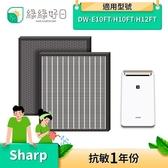 【南紡購物中心】綠綠好日 蜂巢顆粒活性碳 HEPA濾心 適 SHARP DW-E10FT-W DW-H12FT-W FZ-E10THF