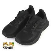 ADIDAS RUNFALCON 2.0 K 鞋帶 大童 慢跑鞋 黑 NO.R6909(FY9494)