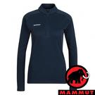 【MAMMUT 長毛象】Performance 女 立領長袖 上衣『海洋藍』1016-00101 戶外 露營 登山 保暖 禦寒