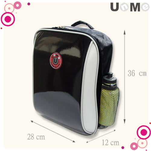 【UnMe】超輕單層後背書包 鏡黑 3037N-MBL (1.2年級) (OS小舖)