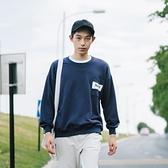 長袖T恤-圓領時尚簡約百搭休閒男上衣73pr36[巴黎精品]