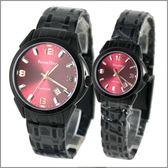 【萬年鐘錶】 Roven Dino 羅梵迪諾 楊丞琳代言 全黑紅對錶 RD631B-RD632B