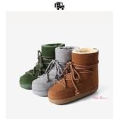 雪靴 雪地靴女冬季新款短筒時尚滑雪靴舒適平底保暖女鞋35-40碼 8色