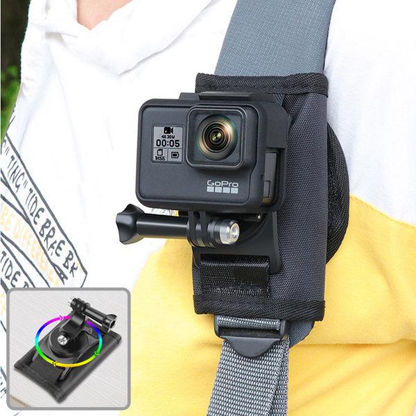 GOPRO 副廠 可調角度背包固定夾 適用多款運動相機