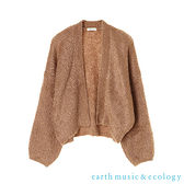 「Hot item」毛毛短版蓬袖針織開襟罩衫 - earth music&ecology