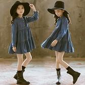 女童牛仔裙 中大童正韓洋氣兒童牛仔洋裝