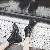 短靴切爾西靴女秋冬厚底騎士靴子粗跟女靴英倫潮歐美馬丁裸靴 蘿莉小腳ㄚ