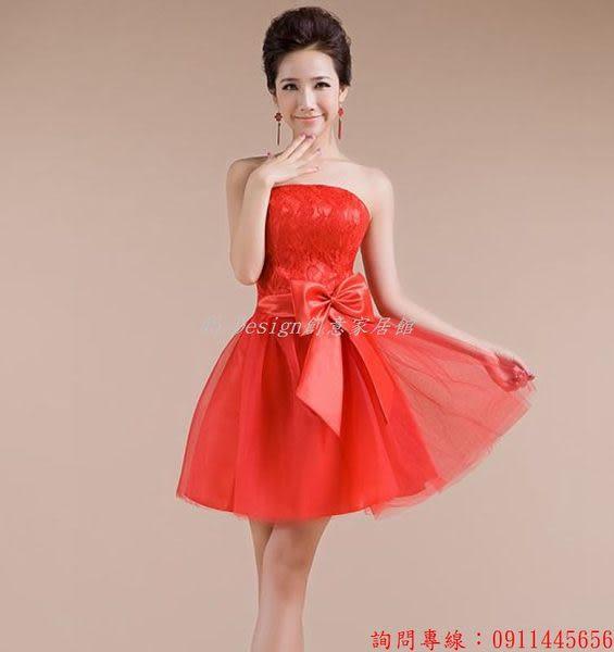 (45 Design)  訂製 定製款7天到貨 新款禮服大紅修身喜慶性感甜美性感婚禮小禮服