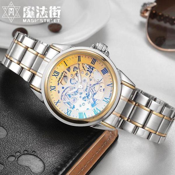 手錶男士全自動機械錶男錶鏤空時尚潮流夜光防水腕錶 魔法街