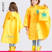 兒童雨衣女童寶寶親子雨披斗篷式幼兒園小孩小學生書包位男童雨衣wl12378[黑色妹妹]