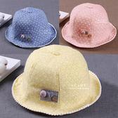 小公主碎花遮陽盆帽 女童帽 嬰兒帽 帽子