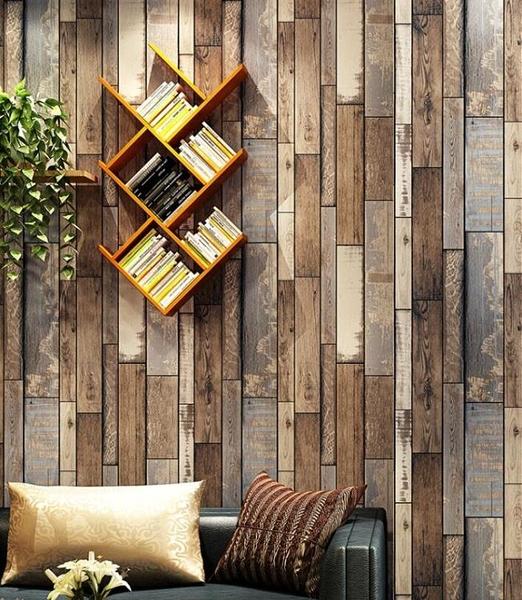 工業風復古懷舊木板壁紙