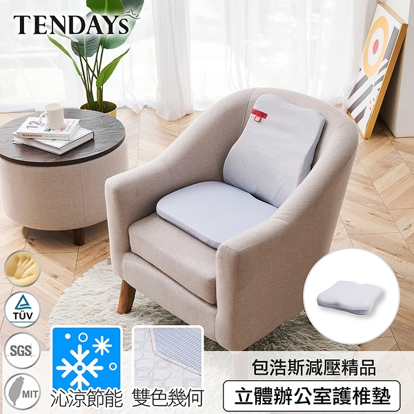 椅墊-TENDAYS 包浩斯立體辦公室護椎墊